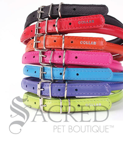 Glamour Soft Round Leather Collar