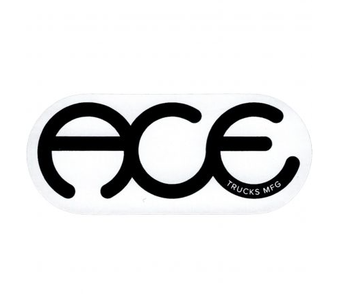 Ace Sticker Rings Logo Black
