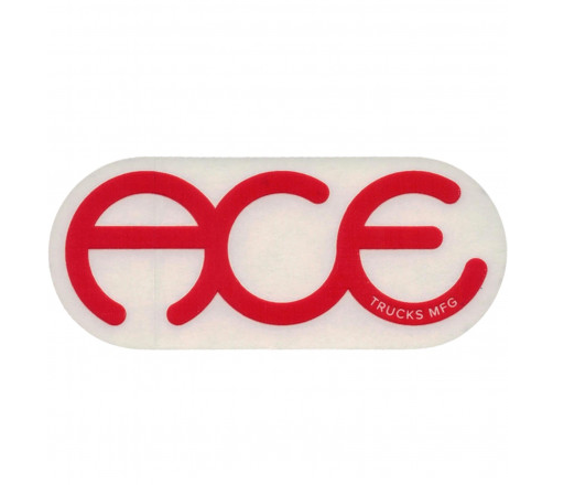 Ace Trucks Sticker Rings Logo Red