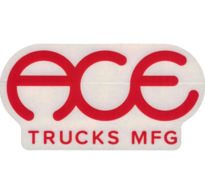 Ace Trucks Sticker Standard Logo Red
