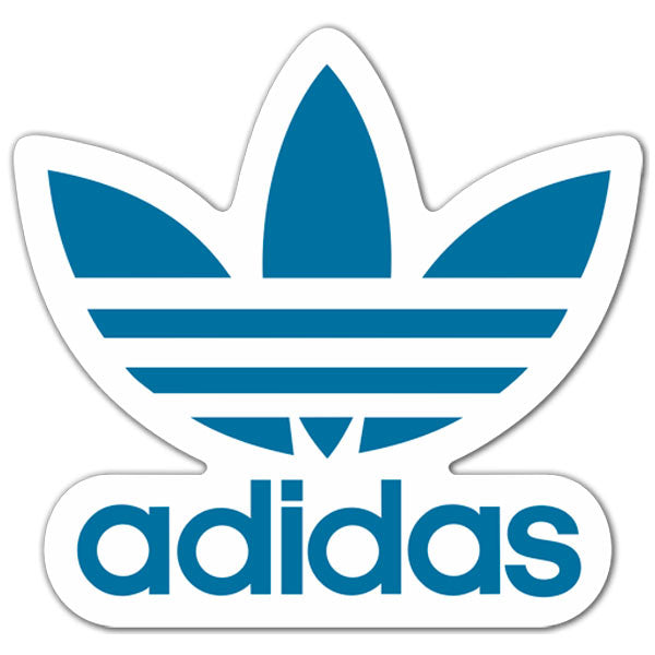 Adidas Sticker Trefoil Blue Lrg