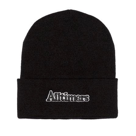 Anti Hero Beanie Blackhero Clip Label Cuff Forest Green/Yellow