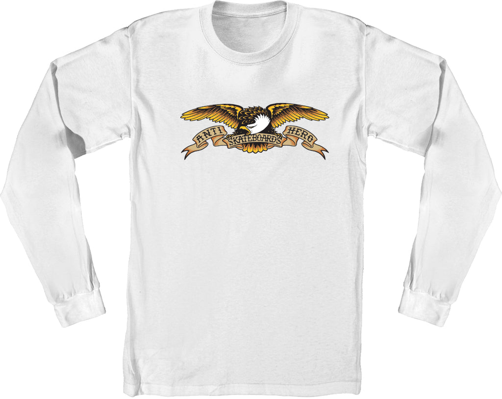 Anti Hero Long Sleeve T-Shirt Eagle White