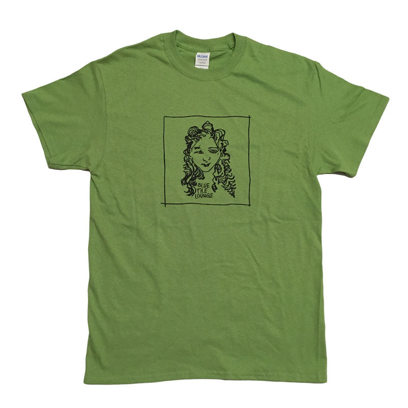 Blue Tile Lounge T-Shirt GONZ Kiwi