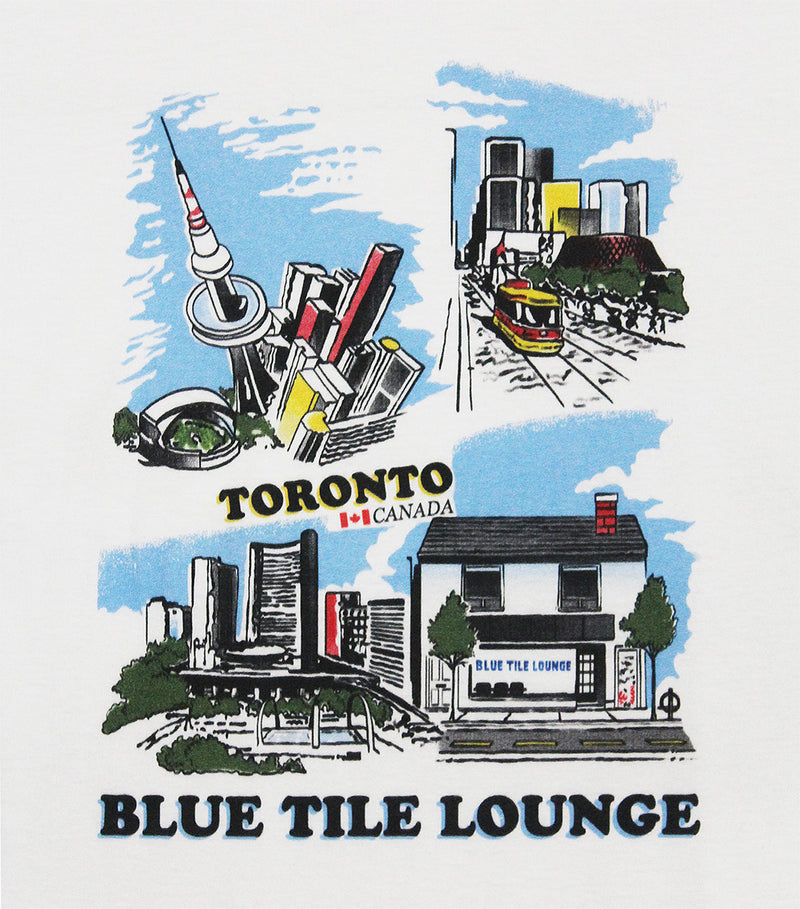 Blue Tile Lounge T-Shirt Souvenir White