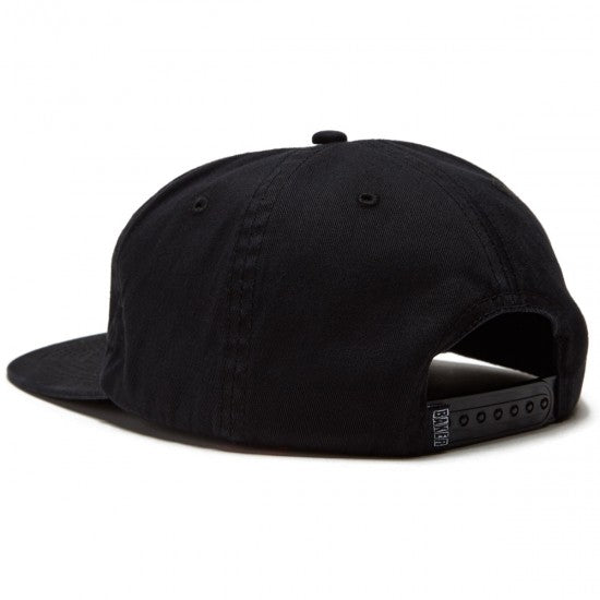 Baker Snapback Hat Smiley Black