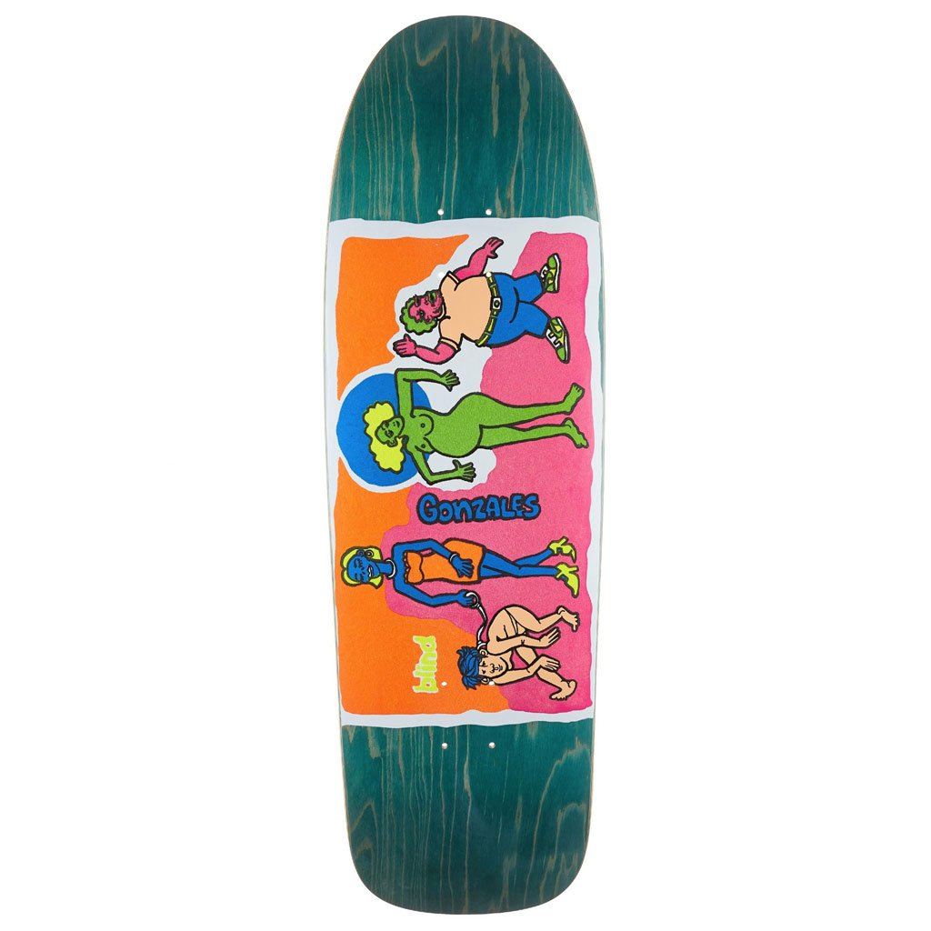 Blind Deck Gonz Colored People Blue Reissue 9.875""