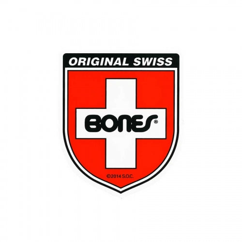 Bones Sticker Swiss Shield