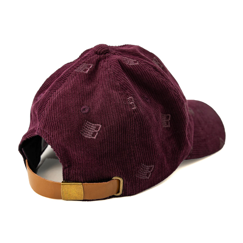 Bronze 6 Panel Hat Allover Embroidered Maroon