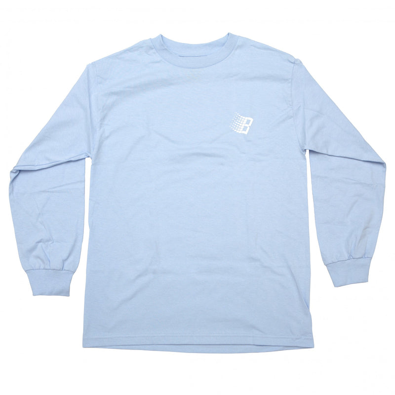 Bronze Long Sleeve T-Shirt B Logo Powder Blue