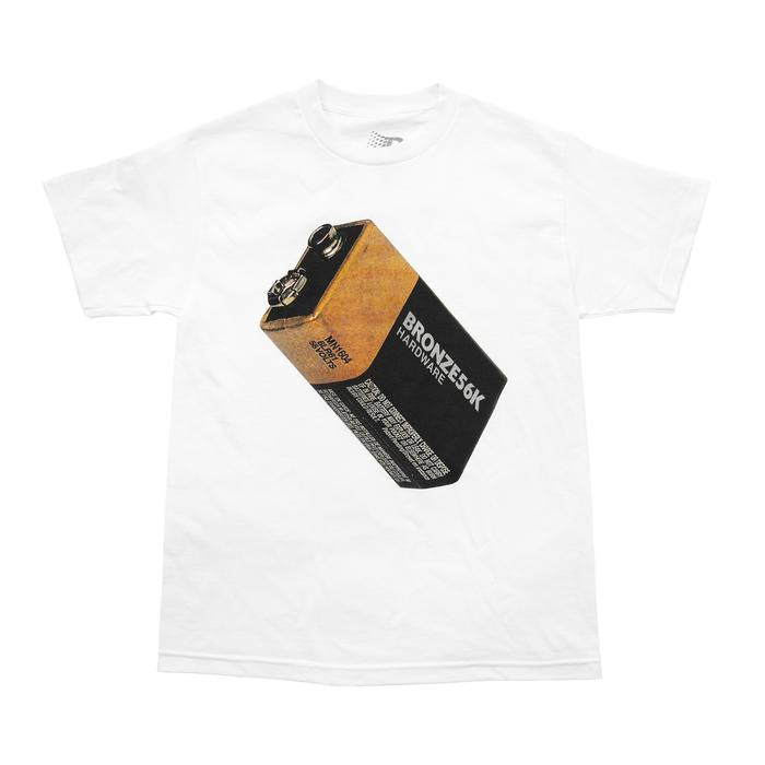 Bronze T-Shirt Battery White