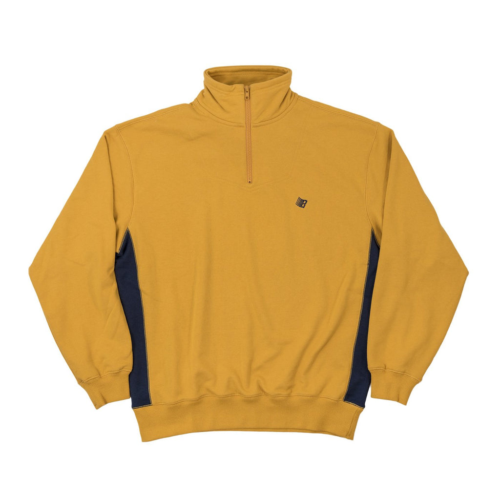 Bronze 1/4 Zip Sweater Microdose Mustard/Navy