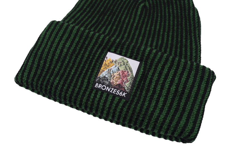 Bronze Beanie Mountain Green