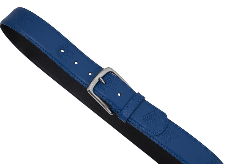 Bronze Belt B Logo Leather Blue