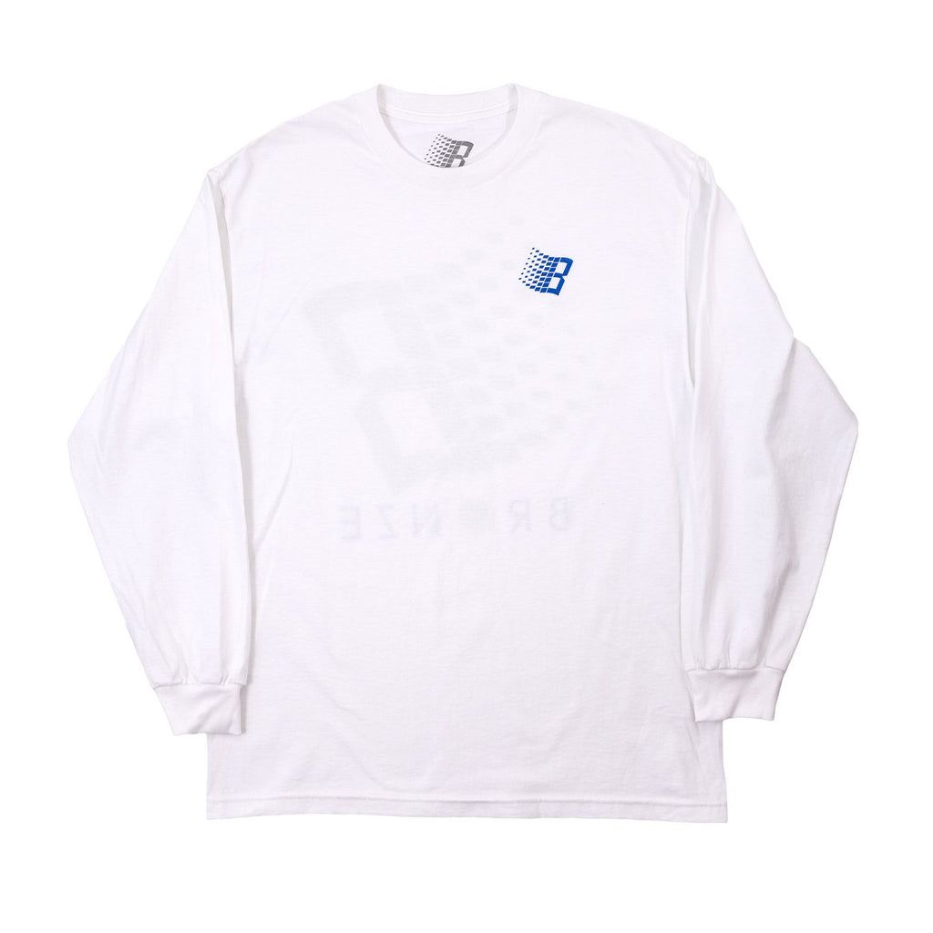 Bronze Long Sleeve T-Shirt Tennis Logo White