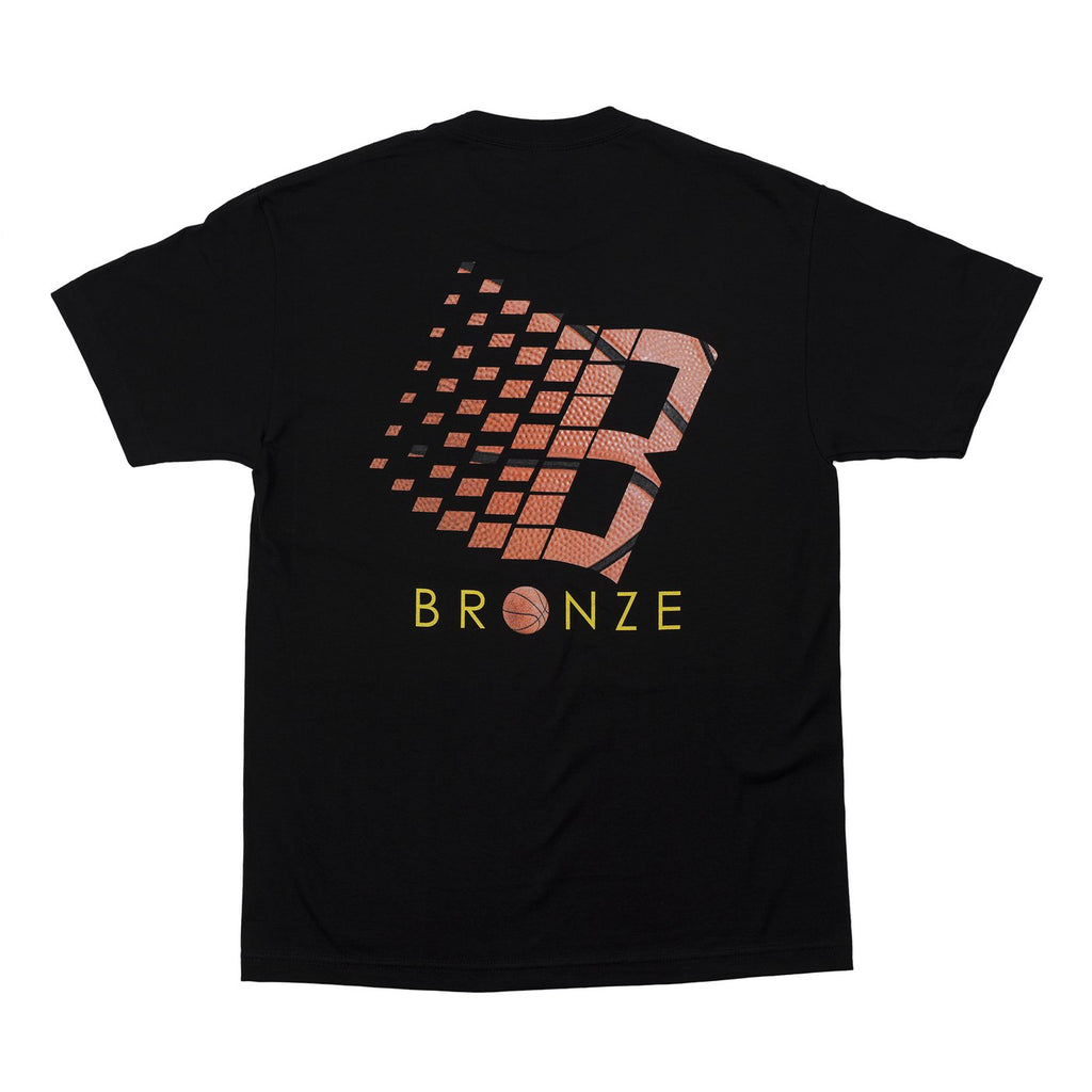 Bronze T-Shirt Basketball Logo Black