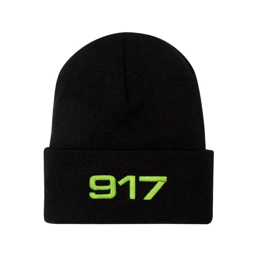 Call Me 917 Beanie Racing Black/Safety Green