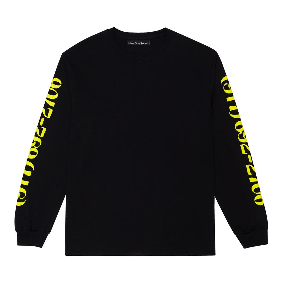 Call Me 917 Long Sleeve T-Shirt Dialtone Black