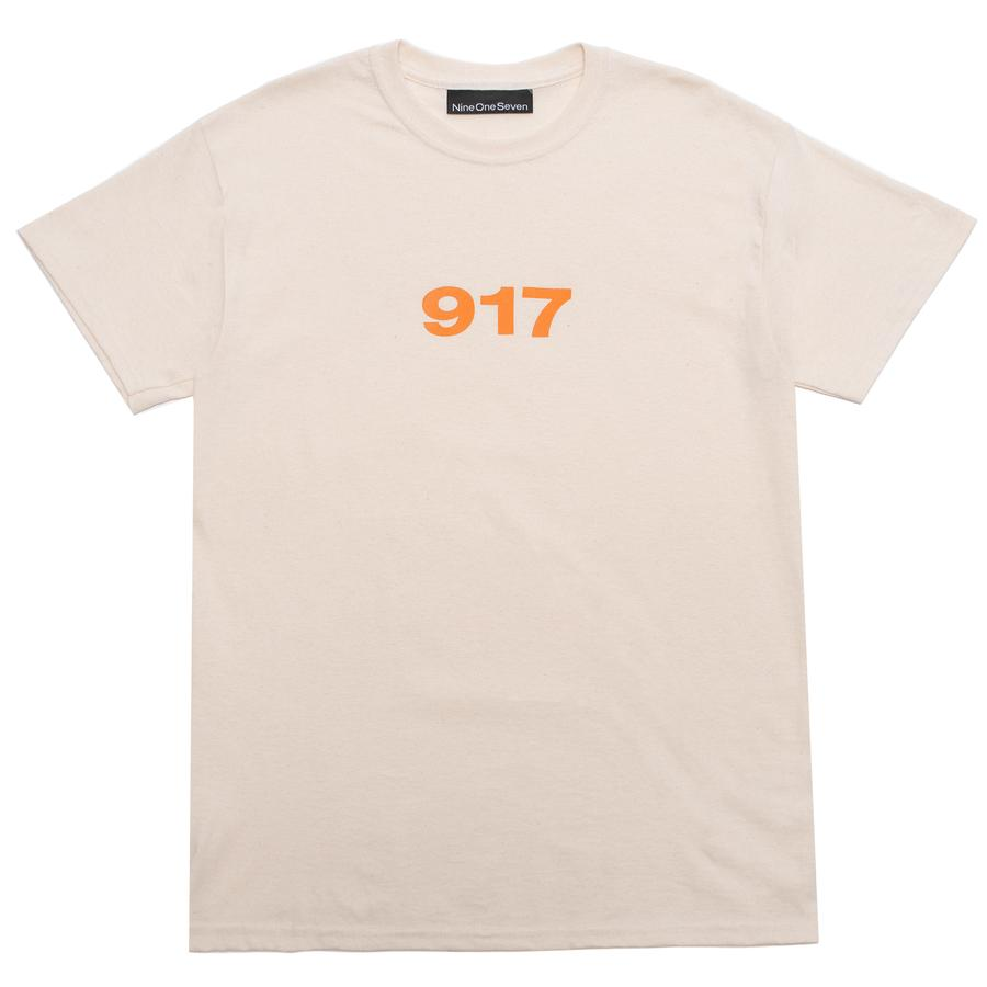 Call Me 917 T-Shirt Block Logo Creme