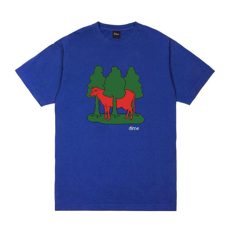 Dime T-Shirt Forest Cow Royal Blue