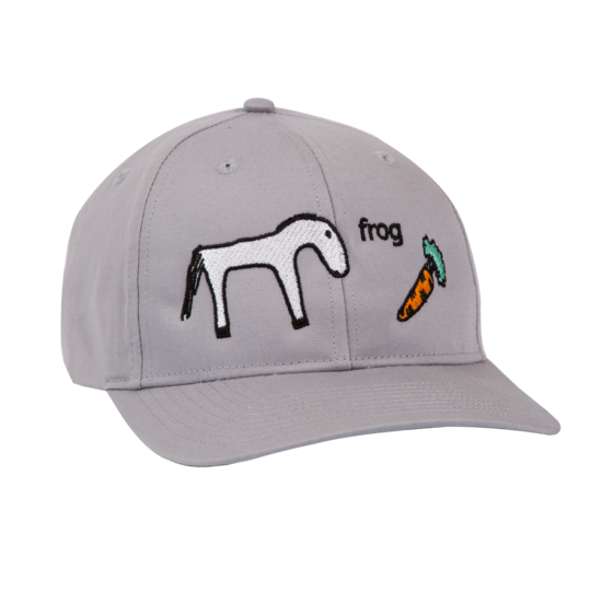 Frog Snapback Hat Horse Silver