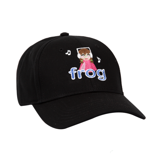 Frog 6 Panel Hat I'm Not Listening Black