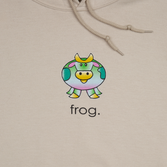 Frog Hoodie Cow Sand