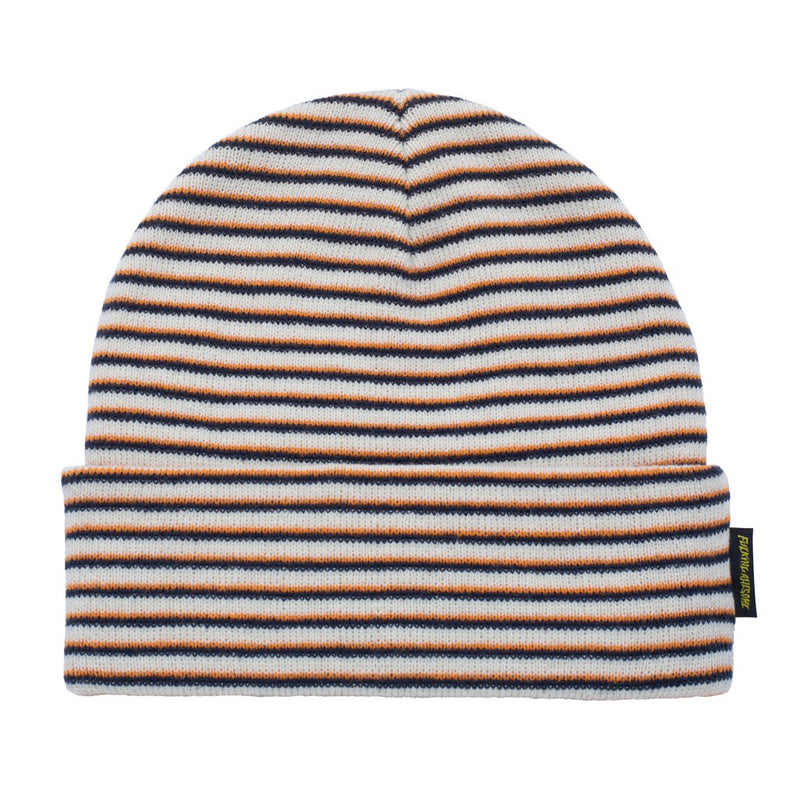 Fucking Awesome Beanie Striped Cuff Off White/Orange