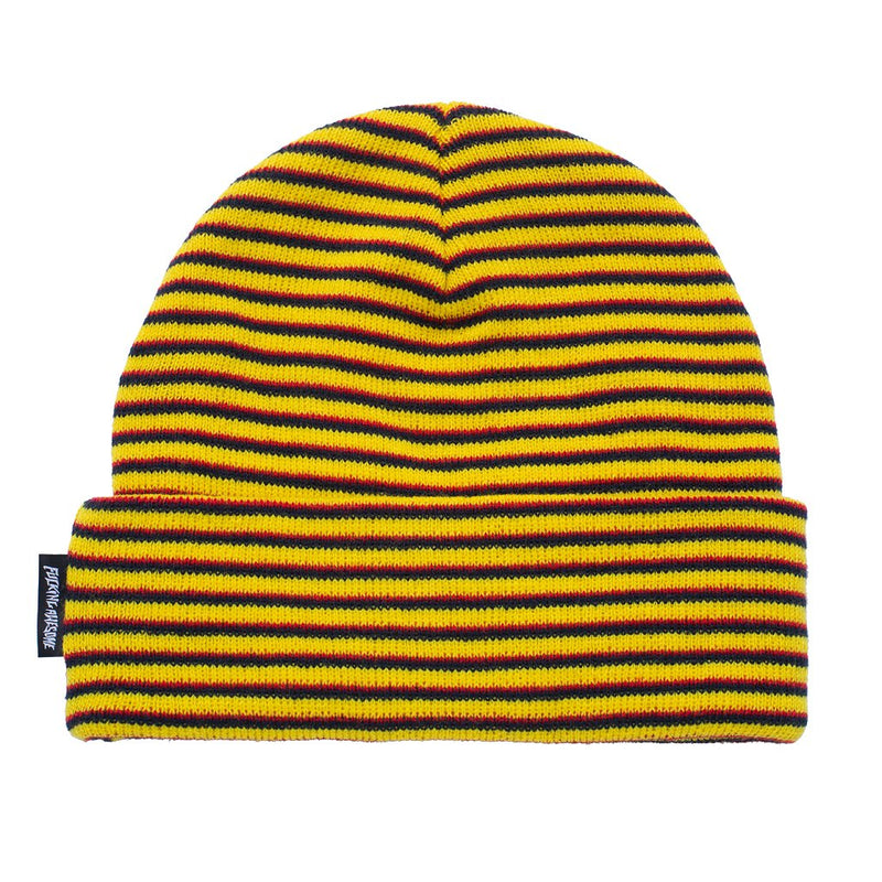 Fucking Awesome Beanie Striped Cuff Orange/Navy