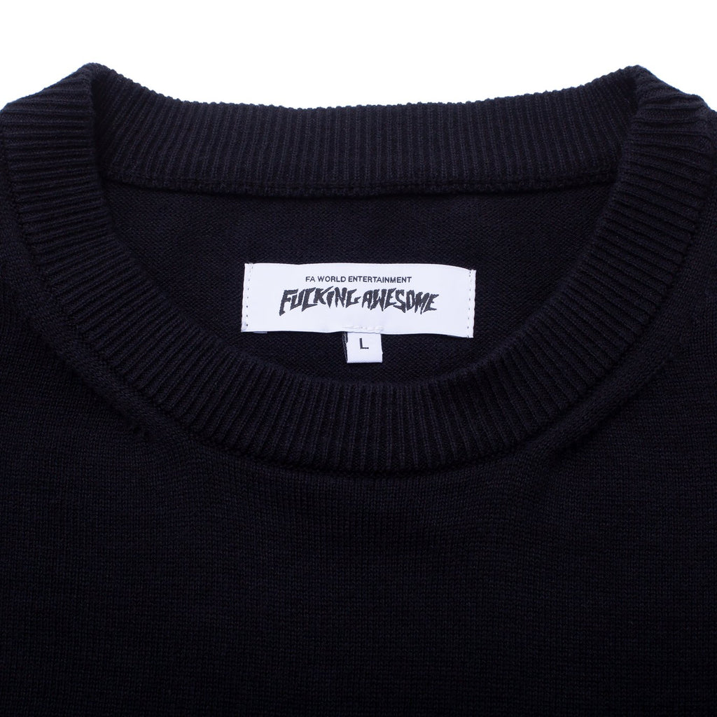 Fucking Awesome Homeroom Sweater Tee Black