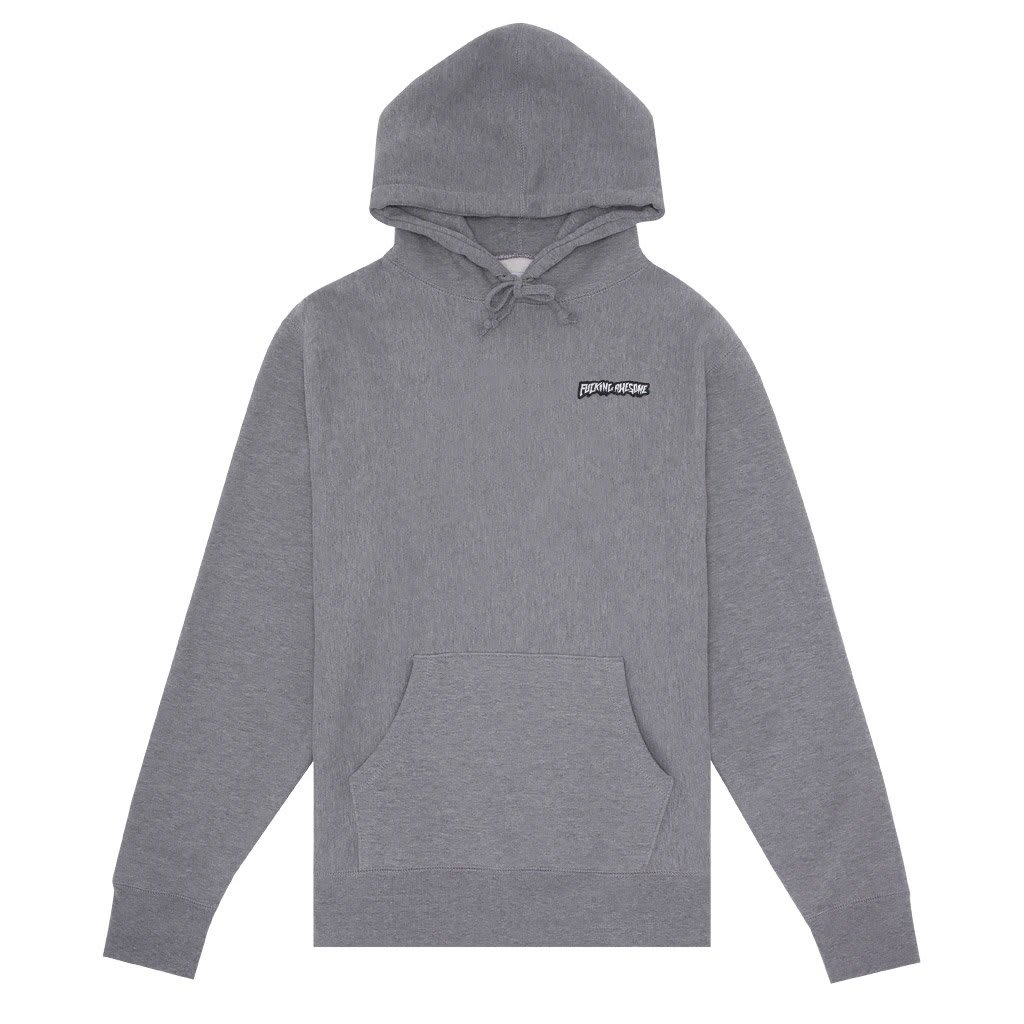 Fucking Awesome Hoodie Little Stamp Gunmetal Heather