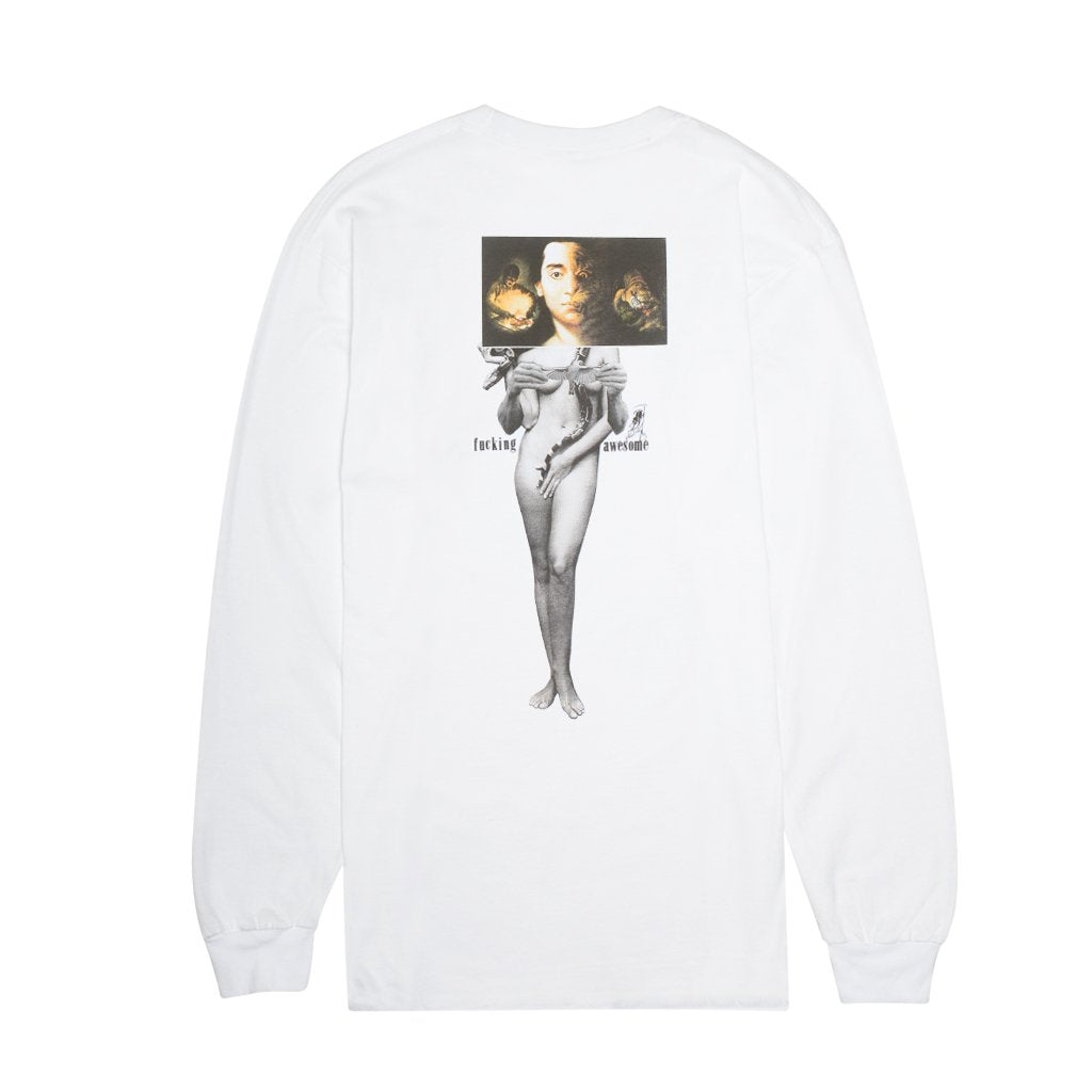 Fucking Awesome Long Sleeve T-Shirt Wizards White