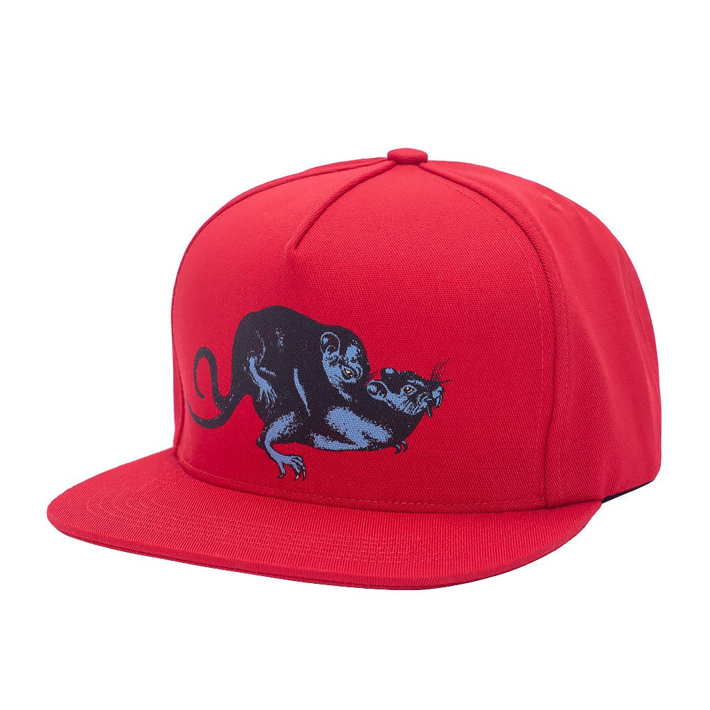 Fucking Awesome Snapback Hat Rat Pack Red