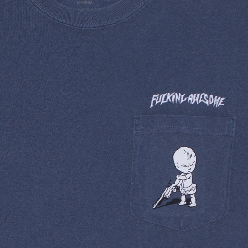 Fucking Awesome T-Shirt Baby Pocket Denim