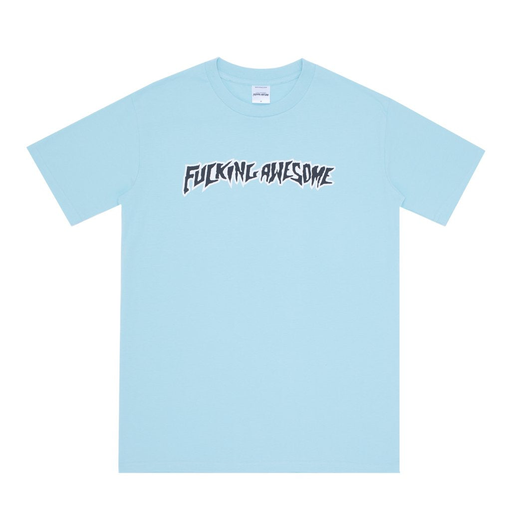 Fucking Awesome T-Shirt Puff Outline Light Teal