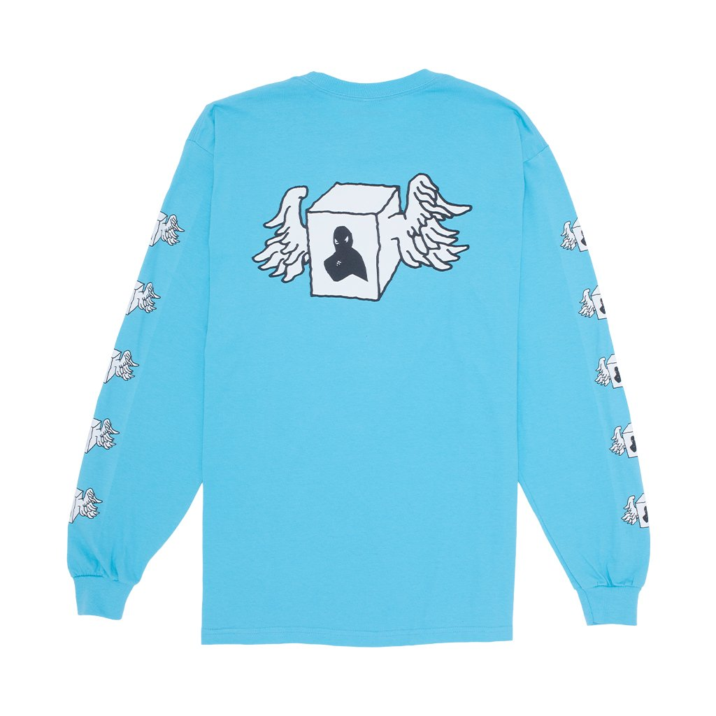 Fucking Awesome Long Sleeve T-Shirt Box Wings Lagoon Blue