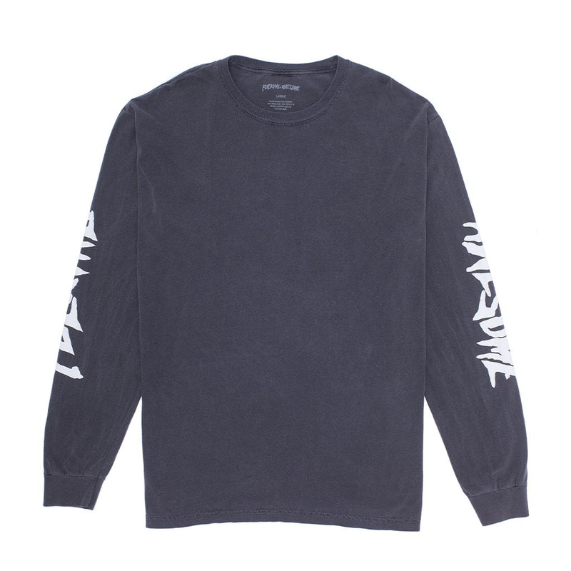 Fucking Awesome Long Sleeve T-Shirt Collage Pigment Dyed Pepper