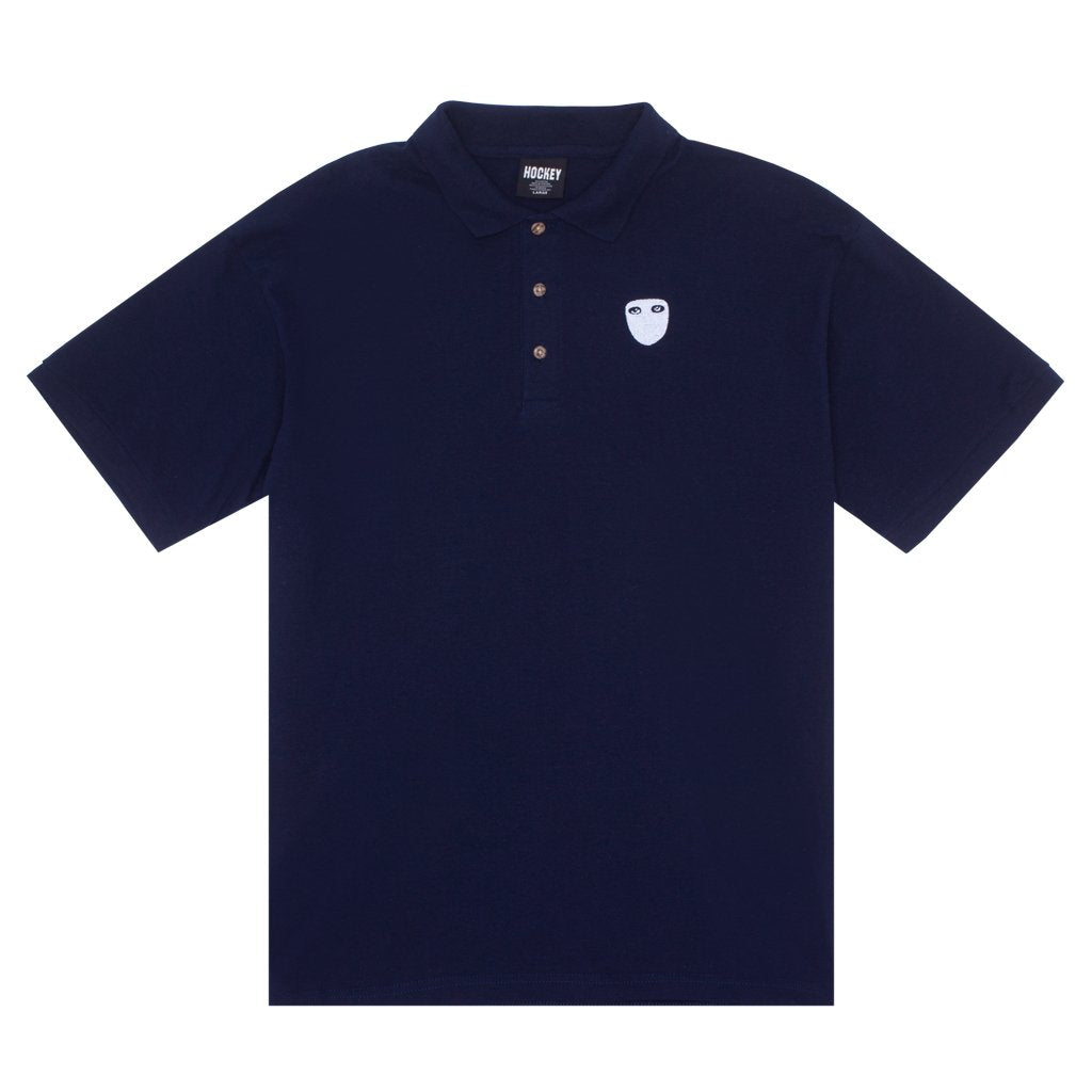 Hockey Polo Shirt Eyes Without A Face Navy