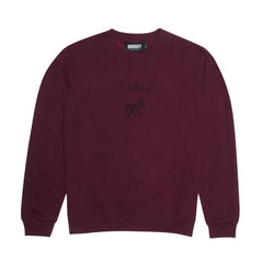 Hockey Crew Neck Sweater Dog Maroon