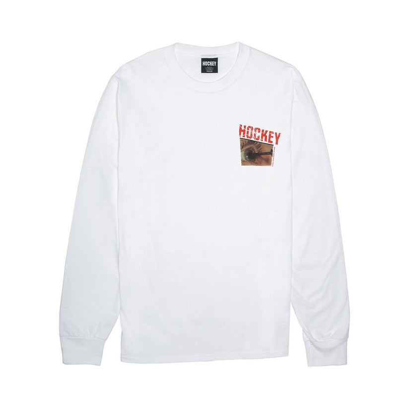 Hockey Long Sleeve T-Shirt Nail White