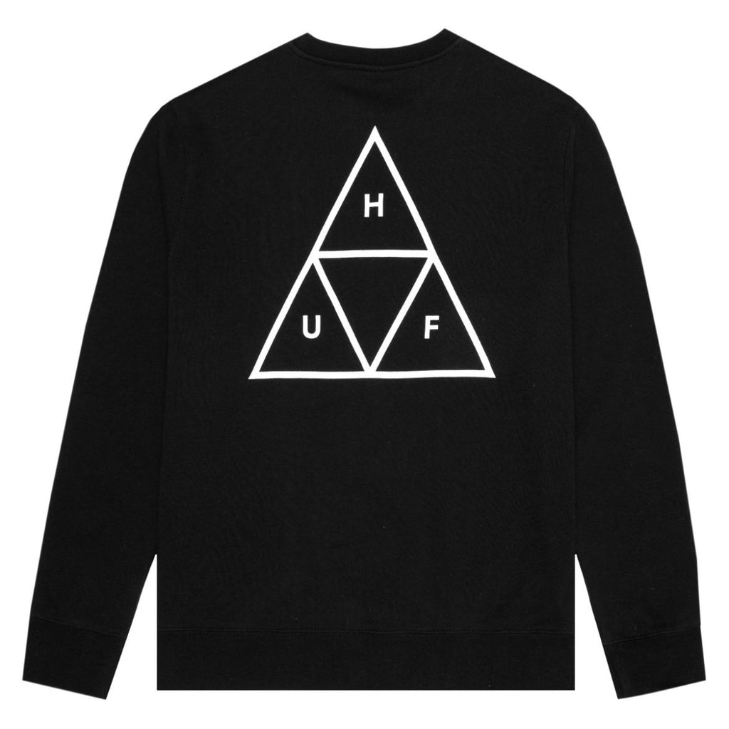 Huf Crew Neck Sweater Triple Triangle Black