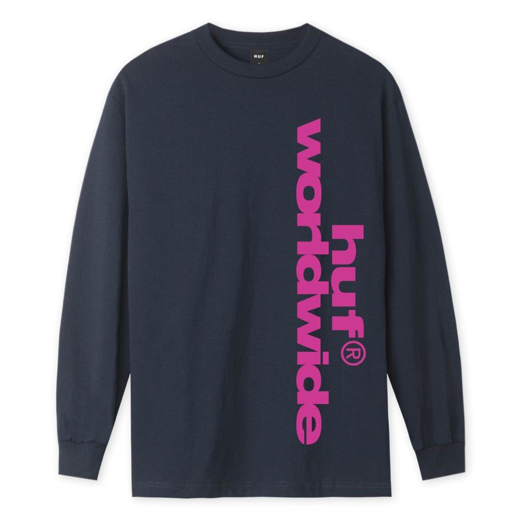 Huf Long Sleeve T-Shirt Untitled French Navy