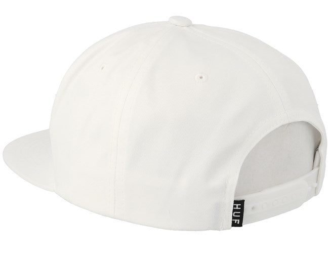 Huf Snapback Hat Essentials Box Logo White