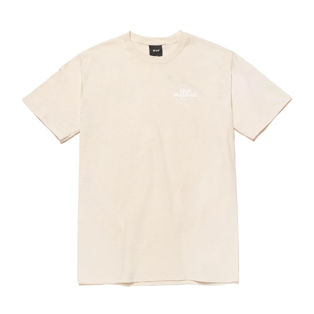 Huf T-Shirt Issues Puff Logo Unbleached