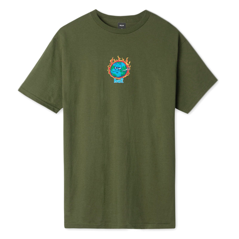 Huf T-Shirt Sick Sad World Olive