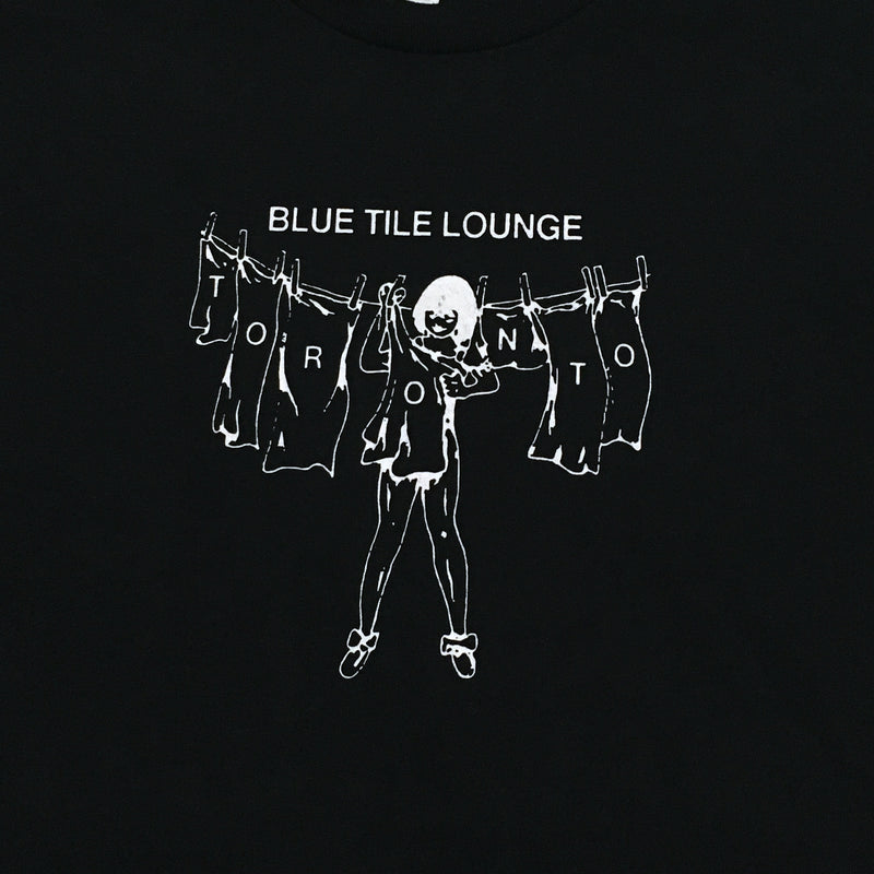 Blue Tile Lounge T-Shirt Laundry Black