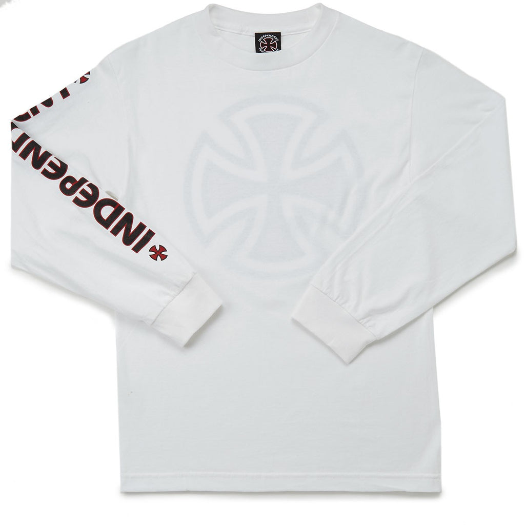 Independent Long Sleeve T-Shirt Bar Cross White