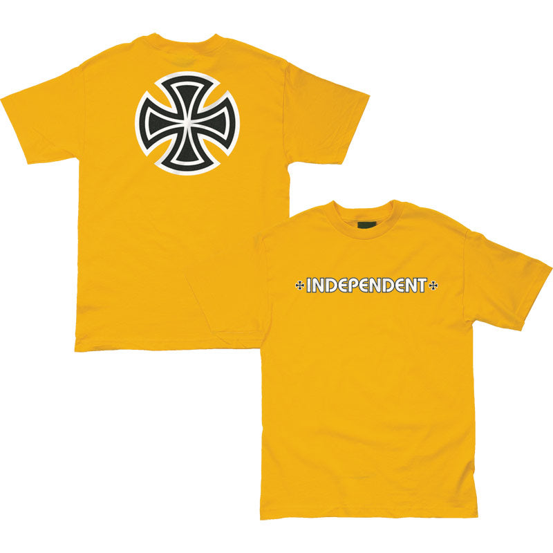 Independent T-Shirt Bar/Cross Gold