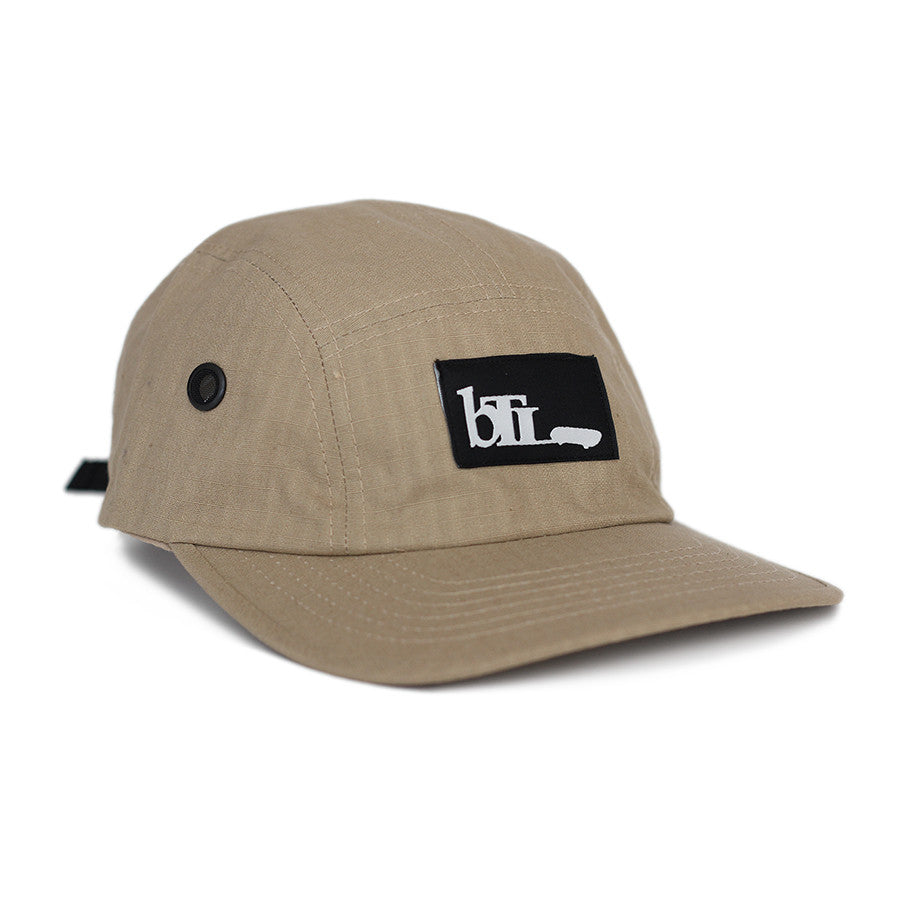 Blue Tile Lounge 5 Panel Hat OG Logo Khaki