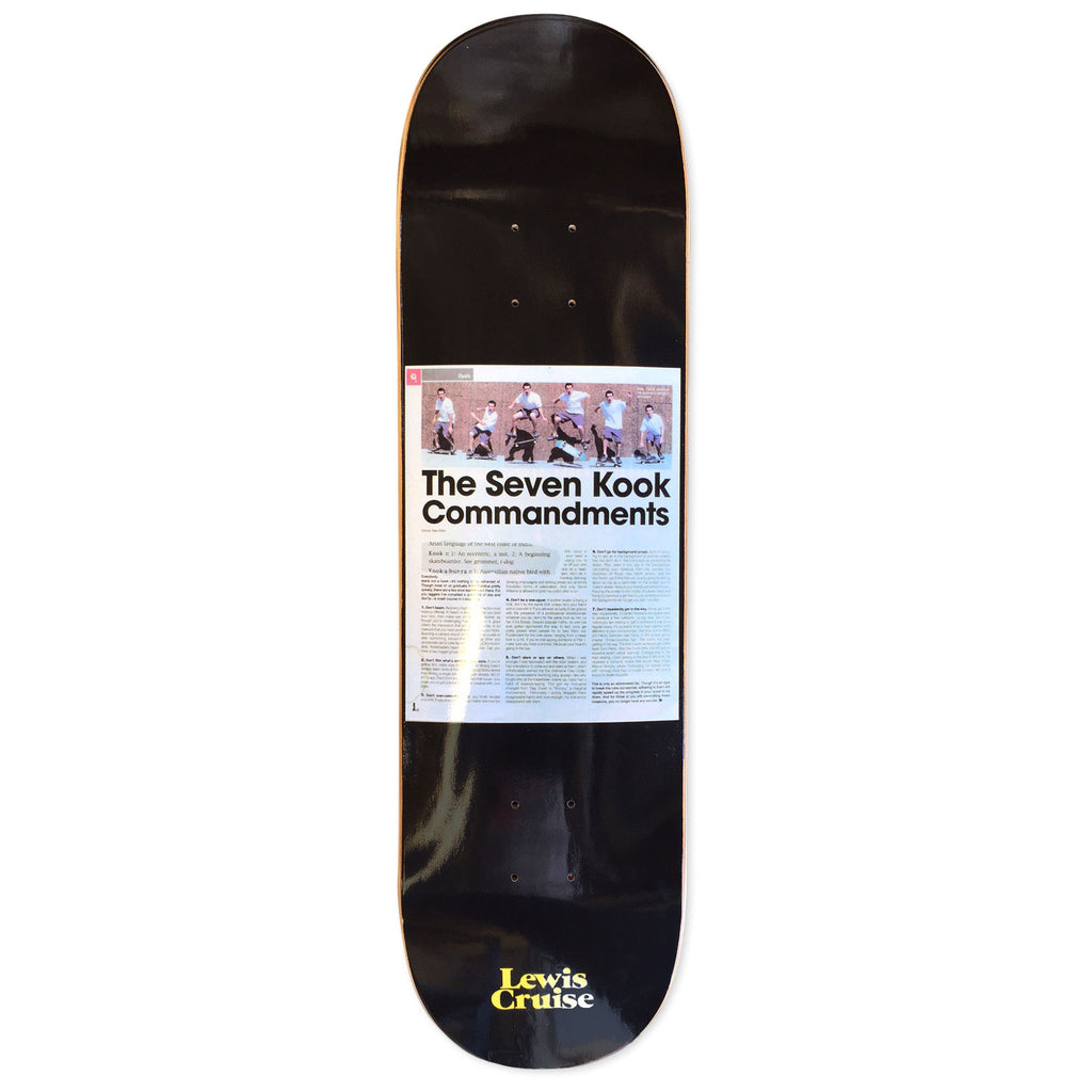 Lewis Cruise Deck Commandments 8.5""